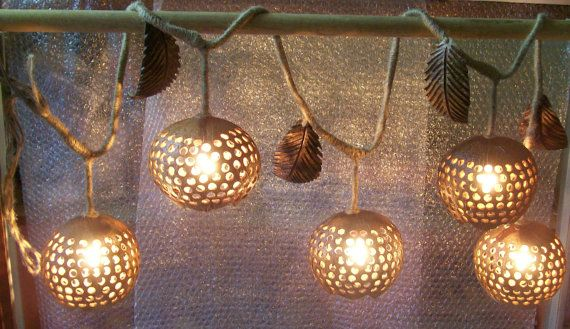 lighted coconut shell